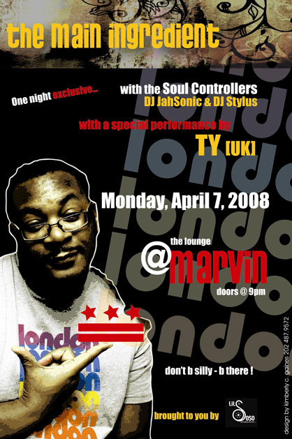 Soul Controllers & Ty Exclusive - Marvin, Mon 4/7/08